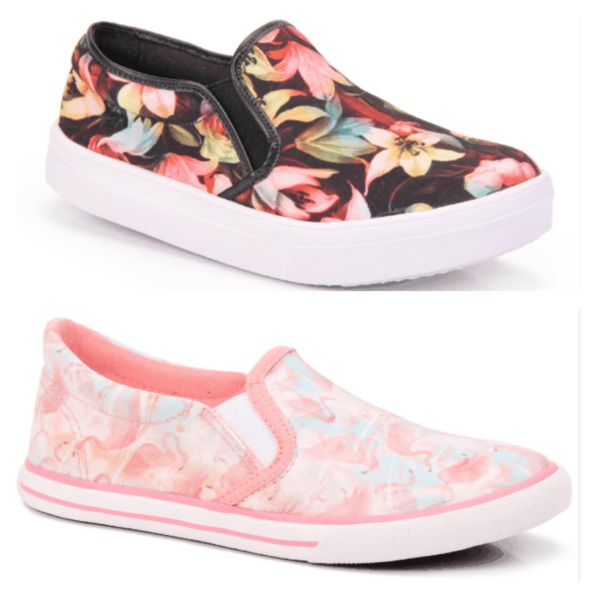 Looks com Tênis Iate Passarela - Modelo floral e flamingos