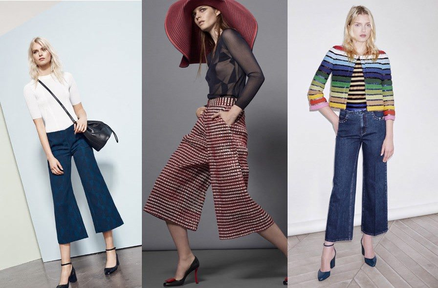 Inspirações de Pantacourt - com jeans e outros tecidos