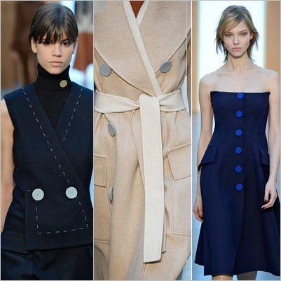 Tendência de Botões - Mostrando sua beleza no colete, trend coat e vestido.
