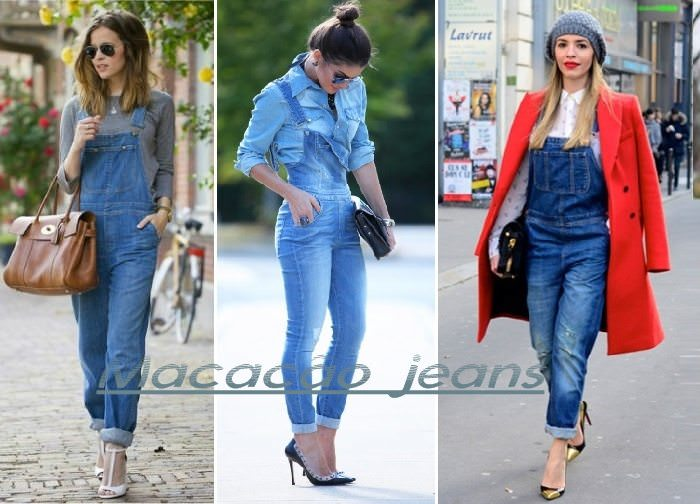 como usar Macacão jeans com salto alto
