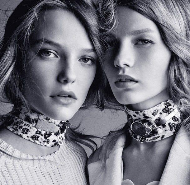 Dior lança tendência chocker e lenço para o inverno 2016