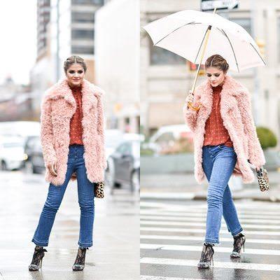 Looks maravilhoso da Fashionista Thassia Naves de sandalia com meia no inverno