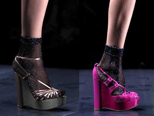 Meia com sandalia Dior