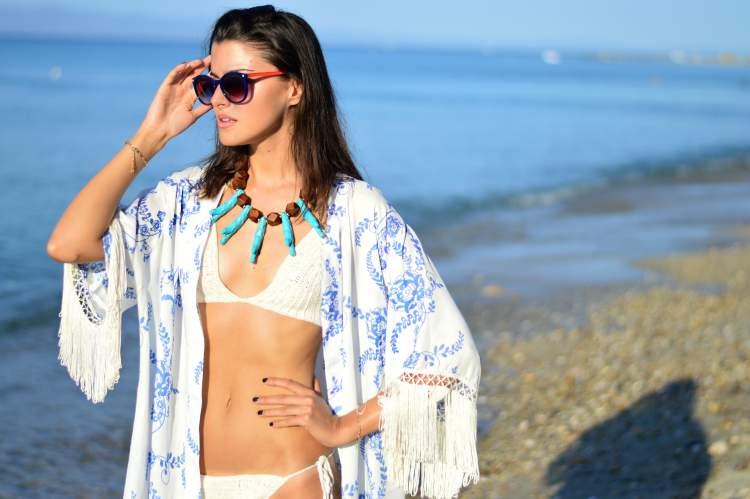 Saída de praia estilo quimono é a tendência para o Verão 2017