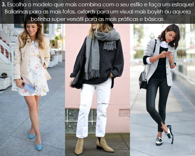 Sapatinha com vestido, calça de couro e calça branca dicas pela Consultora de Estilo Alexandra Evangelista