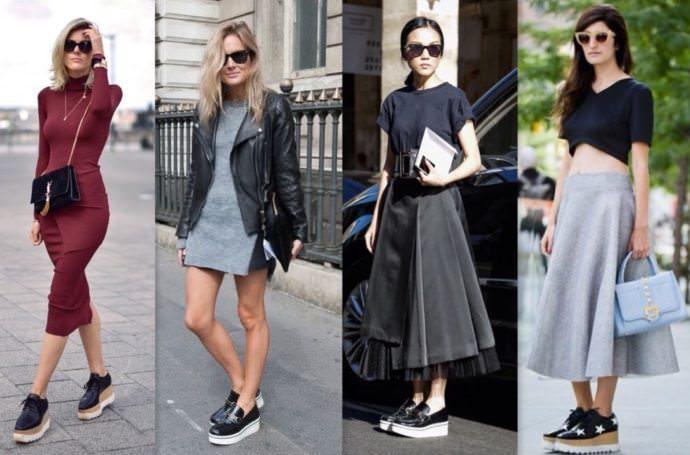 Looks com flatform tendência verão 2016/2017 por Alexandra Evangelista