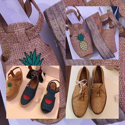 Preview Verão Renner 2017. Sandália de palha com abacaxi, sandália jeans com melancia, oxford palha, flatsform