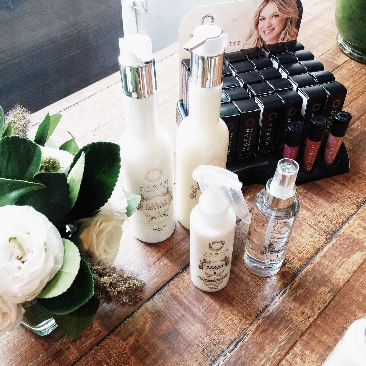 Coleção da Harah Renata Fan, Primer capilar, shampoo, condicionador, body splash e batons